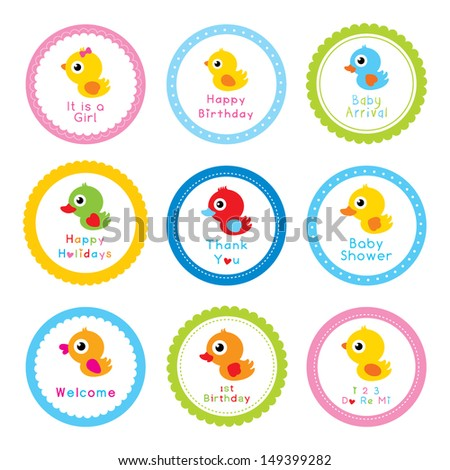 cute duck sticker