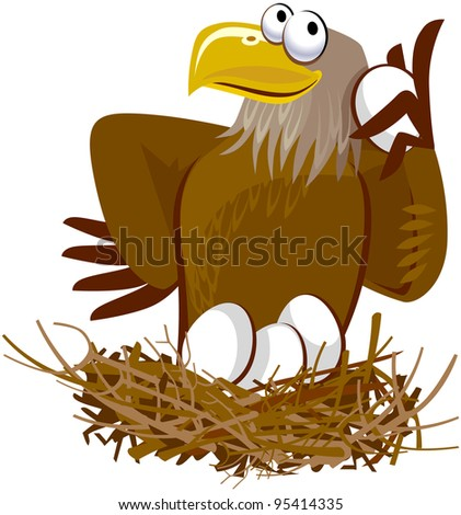 cute eagle cartoon character