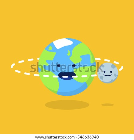 cute earth and moon