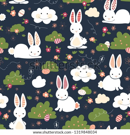 cute easter bunnies seamless
