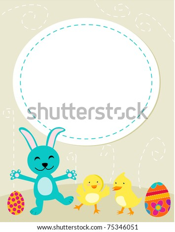 pictures of easter bunnies to color. Cute Easter bunny,