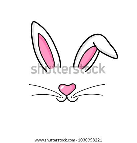 cute easter bunny vector