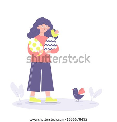 cute easter day illustration