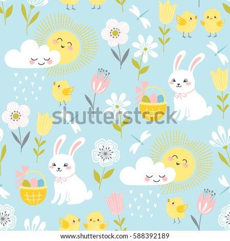 cute easter pattern with