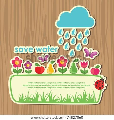 cute ecology banner. vector illustration