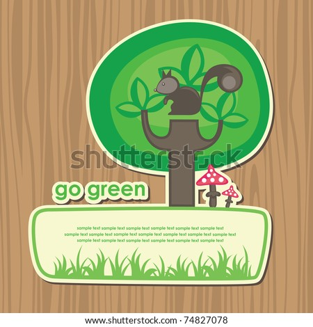 cute ecology banner vector