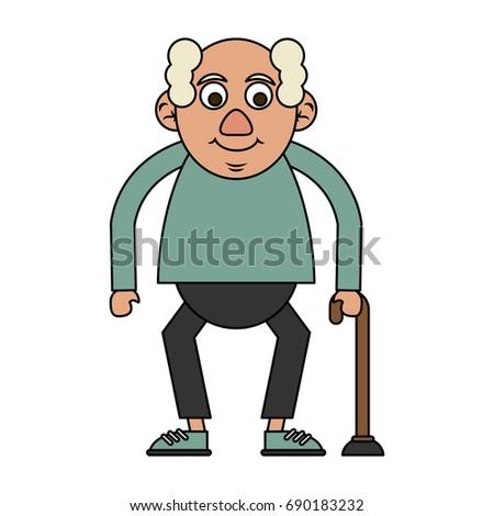 cute elderly person icon image