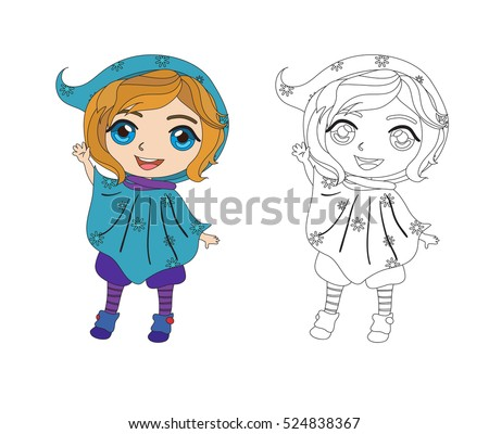 cute elf helper coloring book