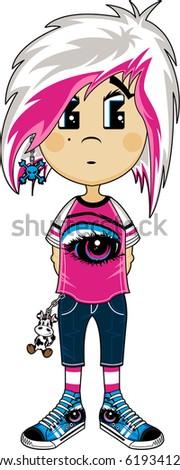 cute emo punk girl