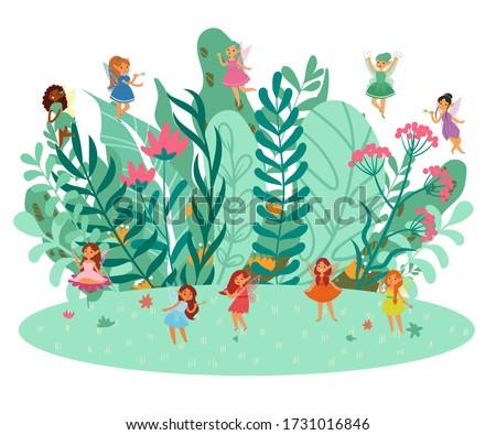 cute fairies fantasy girls in