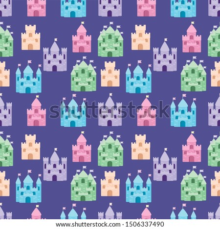 cute fairytale pattern with