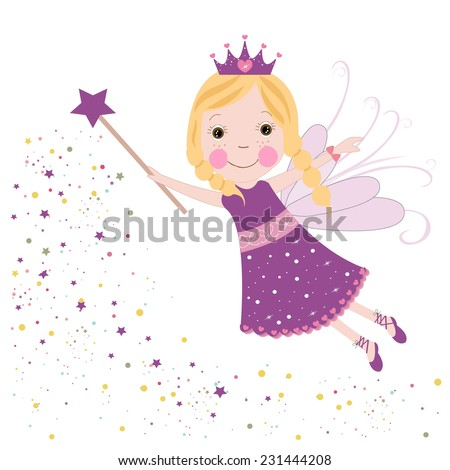 cute fairytale purple stars