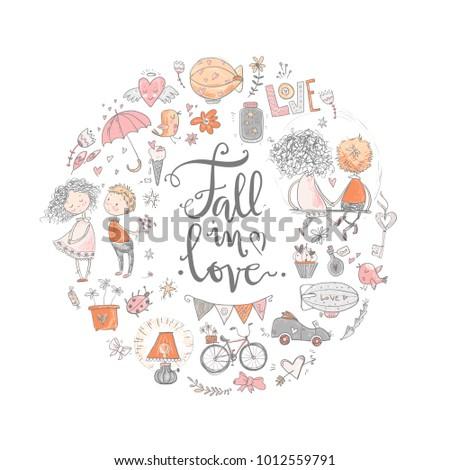cute fall in love round