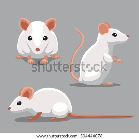 cute fancy mouse poses cartoon