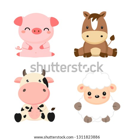 Dog mom and puppy clipart - family clipart - 16053 in 2020   Puppy clipart,  Baby farm animals, Animal clipart