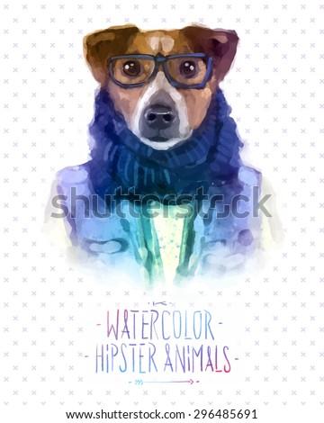 cute fashion hipster animals