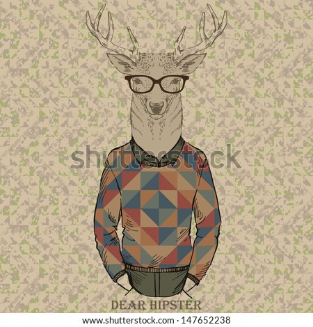cute fashion hipster dear