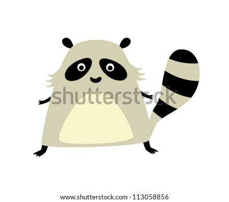 cute fat raccoon