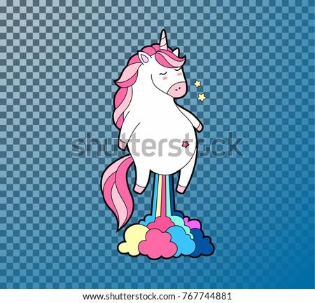 cute fat unicorn farting