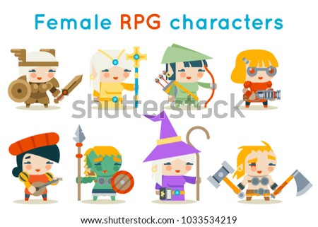 cute female rpg characters