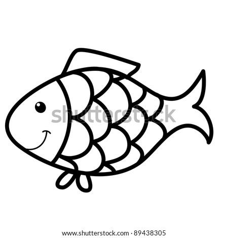 cute fish cartoon, line art, coloring Cobra Kai Logo