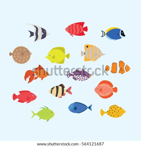cute fish vector illustration