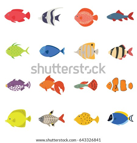 cute fish vector illustration