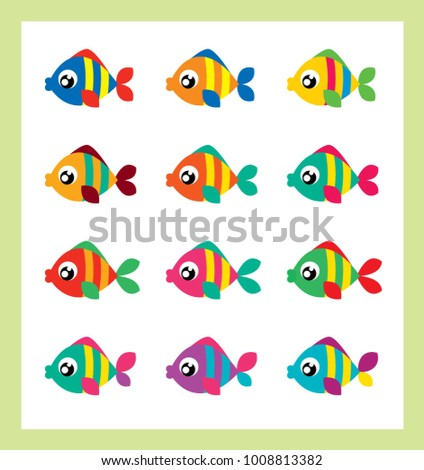 cute fish with kissing lips