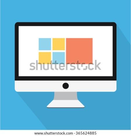 Cute flat computer