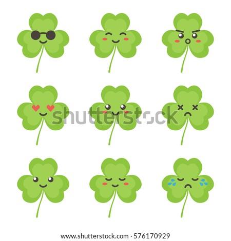 cute flat design clover