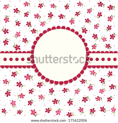 cute floral background for