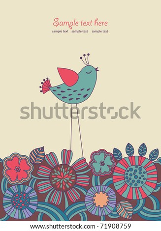 cute floral background. vector illustration