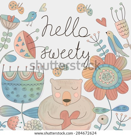 cute floral background with