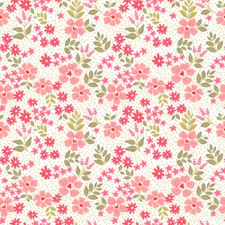 Cute floral pattern in the small flower. Ditsy print. Motifs scattered random. Seamless vector texture. Elegant template for fashion prints. Printing with small pink flowers. White background.