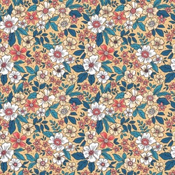 Cute floral pattern in the small flower. Seamless vector texture. Elegant template for fashion prints. Printing with small colorful flowers. Light beige background.