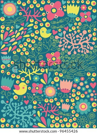 cute floral pattern. vector illustration