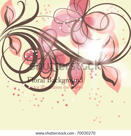 Cute floral seamless background with abstract hand drawn flowers and ...