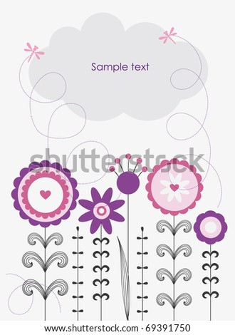 cute flowers. vector...