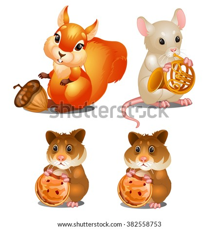 cute forest animals with