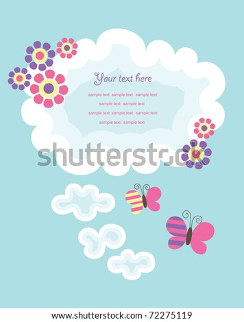 cute frame design. vector illustration - stock vector