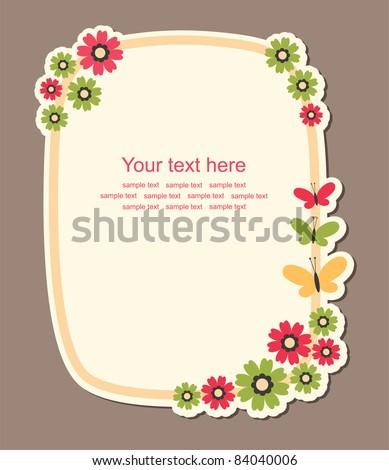 cute frame design. vector illustration