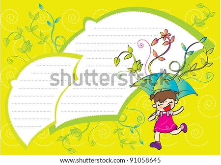Cute Frame - with happy smiling little girl
