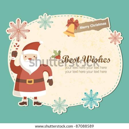 cute frame with santa claus