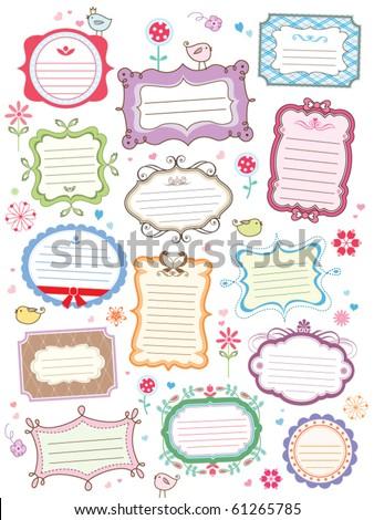 cute frames - stock vector