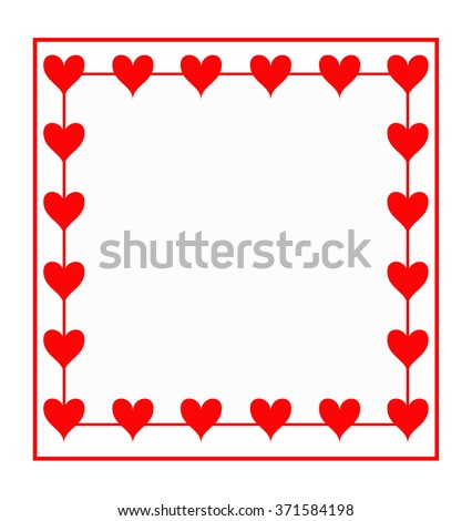 cute frames vector for valentines day | EZ Canvas