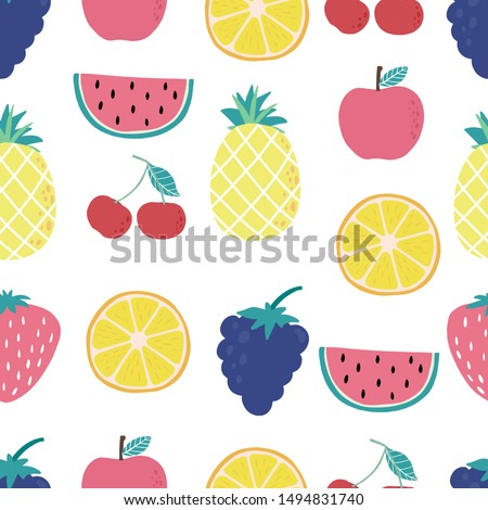 cute fruit background with