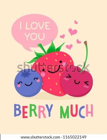 cute fruits cartoon