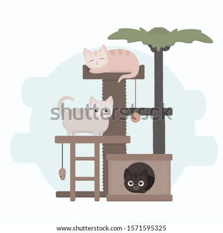 cute funny cartoon cats on cat