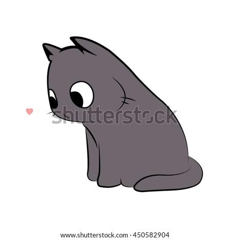 cute funny cat   vector