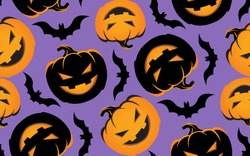 Cute funny  doodle pattern background halloween art
